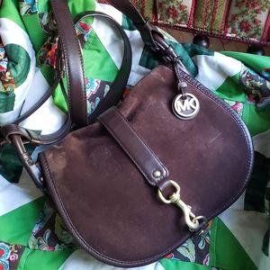 Michael Kors large saddle bag leather crossbody